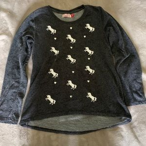 Black Unicorn Long Sleeve Shirt